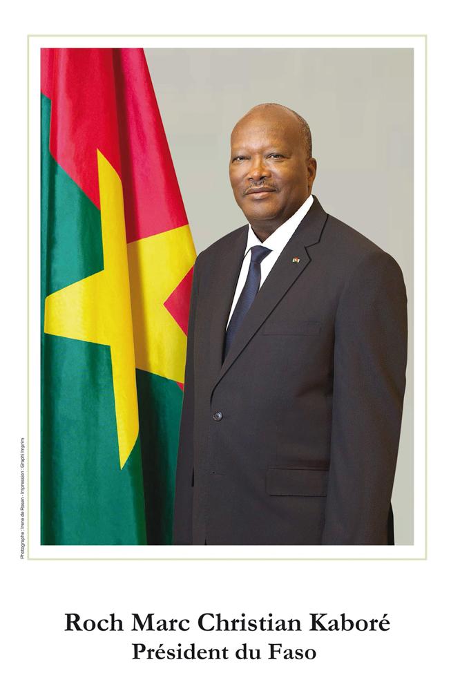 Portrait Officiel Roch Kaboré Président du Burkina Faso